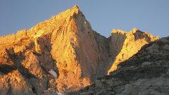 Rock Climbing Photo: First light on Bear Creek Spire