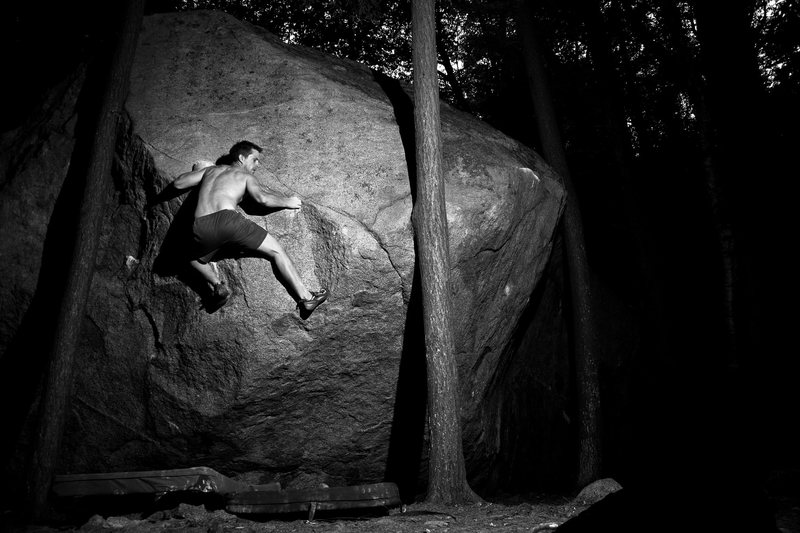 Rock Climbing Photo:  The Terrorist at night..scary!