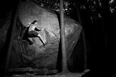 Rock Climbing Photo:  The Terrorist at night..scary!
