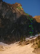 Rock Climbing Photo: route topo