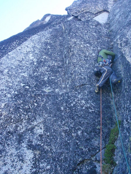 Rock Climbing Photo: start of Pitch 2