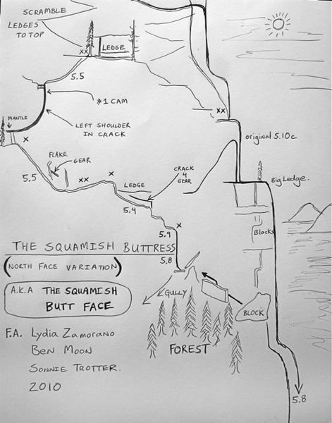 Topo for the route, credit Sonnie Trotter.