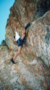 Rock Climbing Photo: JB...looking for a rest....early Delt Melt attempt...