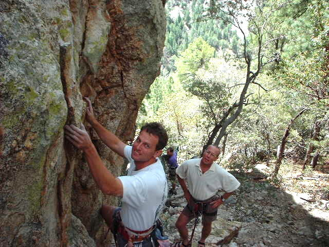 Rock Climbing Photo: Kent Bruner and Steve Johnson back when the crag w...