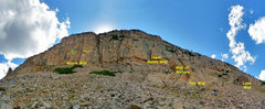 Rock Climbing Photo: Moosehorn crags. The easiest approach to the Moore...