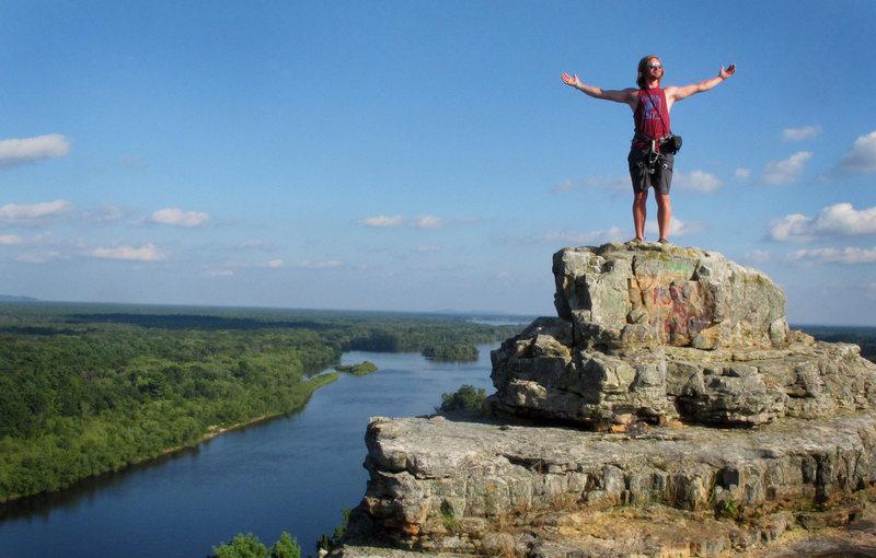 Cody Brundidge atop Petenwell Bluffs