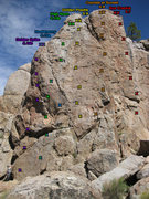 Rock Climbing Photo: Coyote Crag Middle Routes