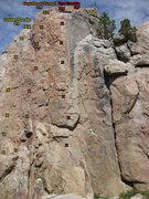 Rock Climbing Photo: Coyote Crag Right Routes