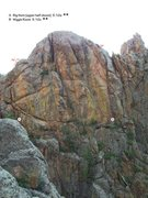 Rock Climbing Photo: The south side of The Golden Hall; that is, the up...