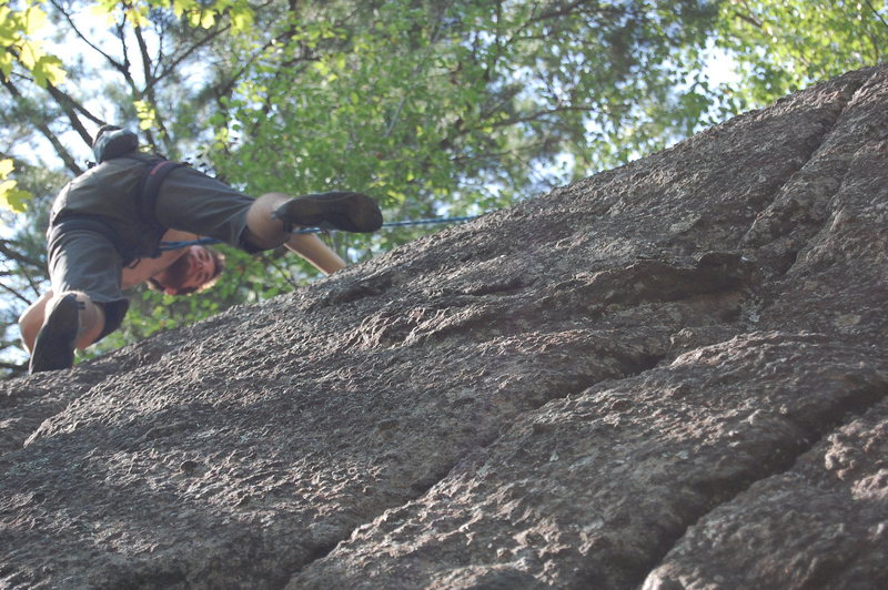 Nate Penney on the J.C bloc at Cliff Drive.  These routes felt a bit sand bagged.