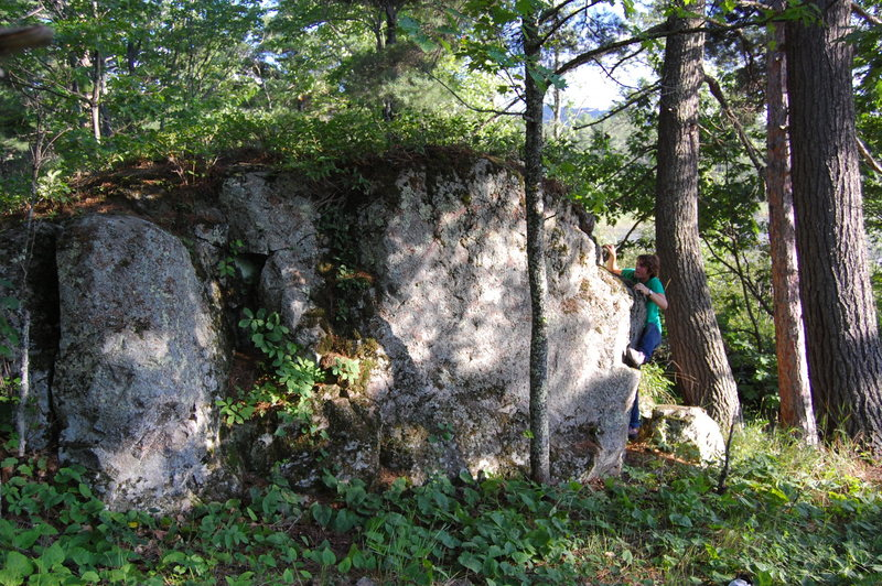 Boulder found over by Harlow Lake in Marquette.  There are all kinds of these things up there waiting to be climbed.