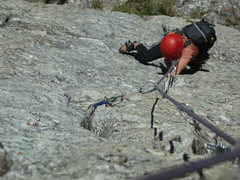 "Rock Climbing Photo: Anna following ""The Snazzette"", a 5.10 v..."