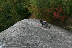 Rock Climbing Photo: Leaves are turning - fall is in the air