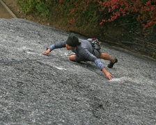 Rock Climbing Photo: Cold day - good friction!