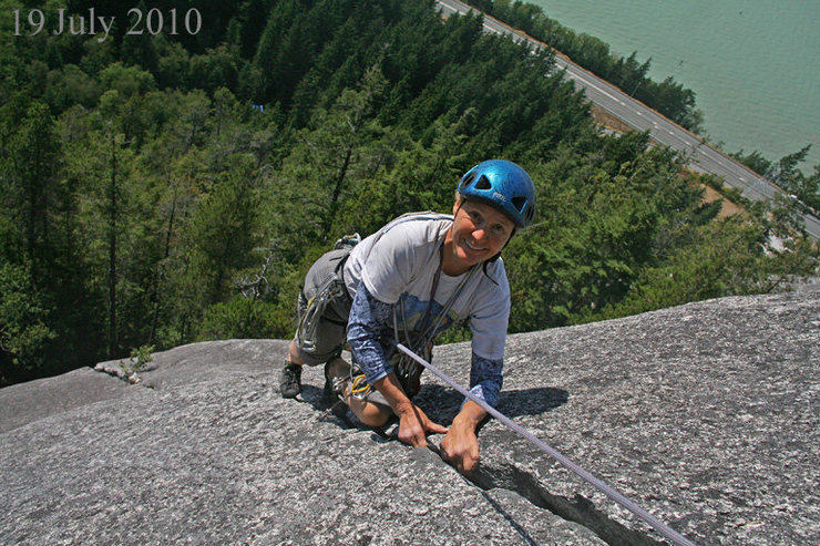 Near the top of Manana Crack