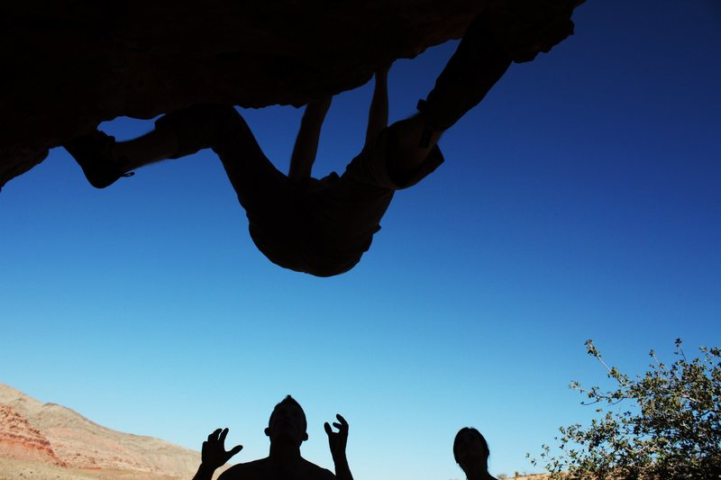 Rock Climbing Photo: A little afternoon bouldering, no idea what rock, ...