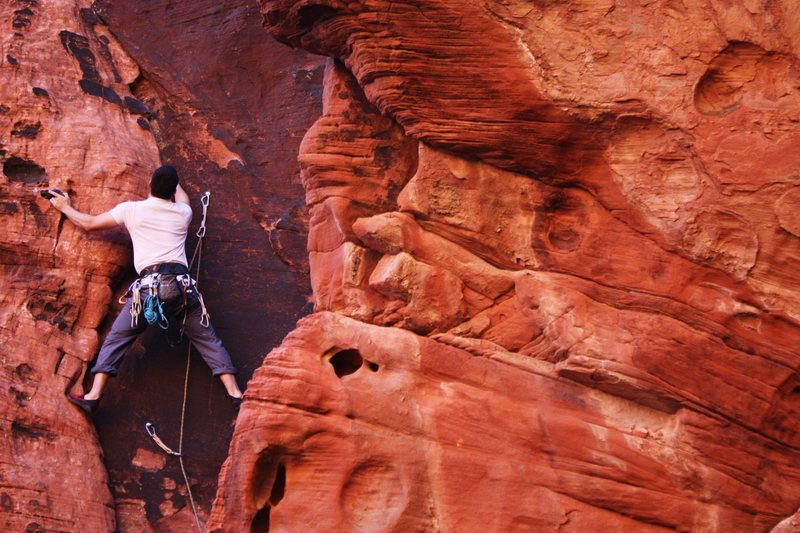 Rock Climbing Photo: Frank on Warrantless Wiretap. Photo by Joseph Lasc...