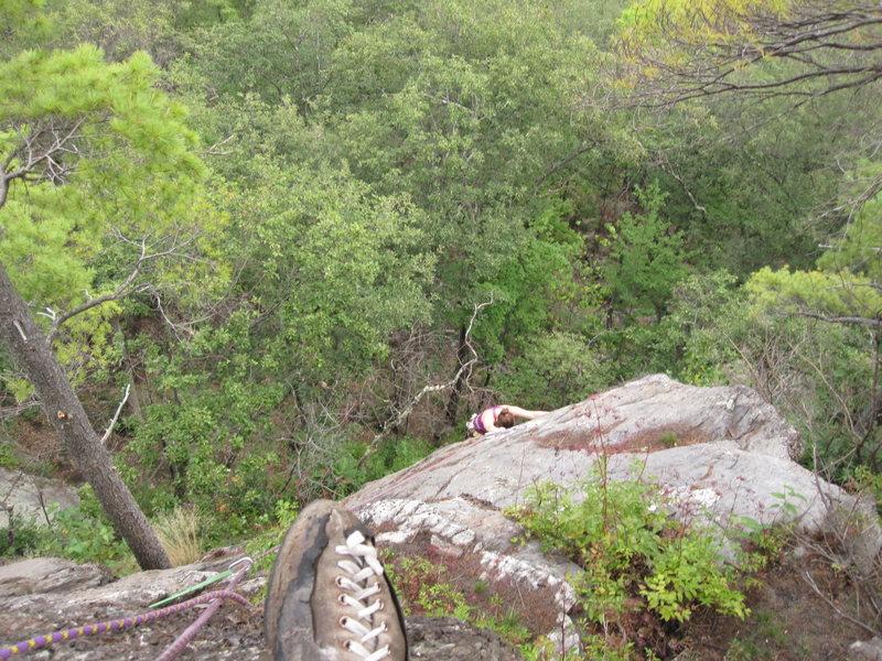 Rock Climbing Photo: Zoe made it.