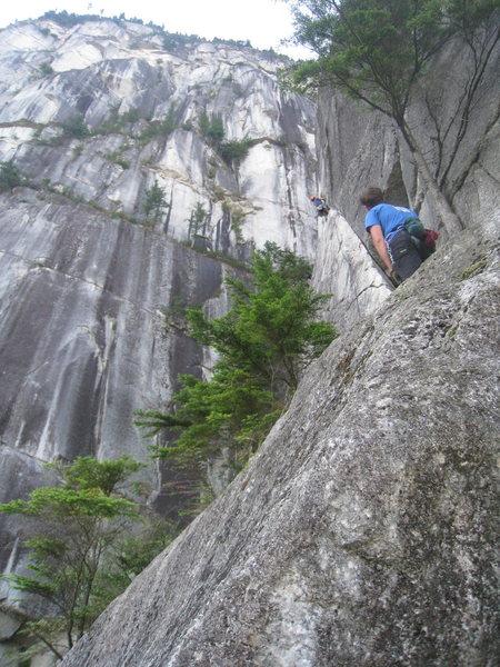 Rock Climbing Photo: Angel Crack, a heady start to a long day!