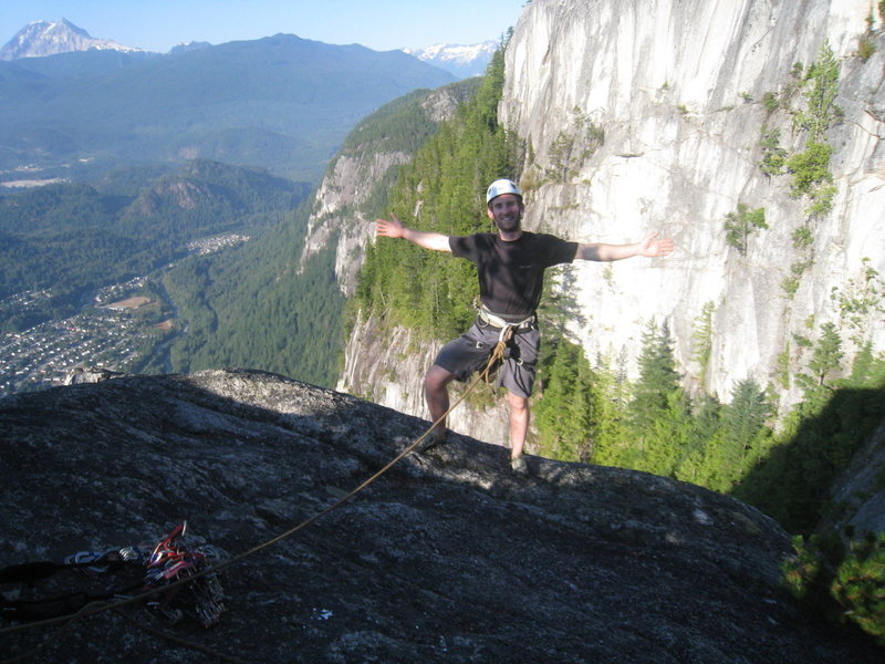 Rock Climbing Photo: Paul after some stellar leading up the Angels Cres...