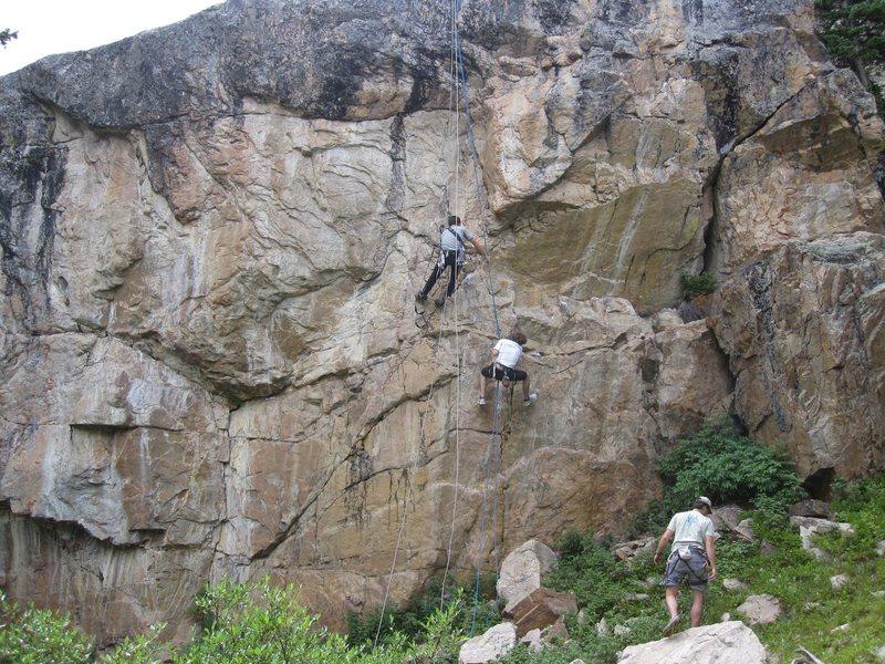 Rock Climbing Photo: Pushing 200.