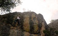 Rock Climbing Photo: Flake towards top
