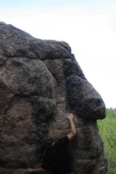 Rock Climbing Photo: getting from crimp to sloper.