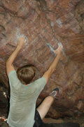 Rock Climbing Photo: Sam Daley starting Flamingo