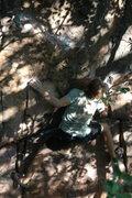 Rock Climbing Photo: Sam on Sweat and Slide