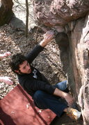 Rock Climbing Photo: Nate using the heel hook