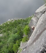 Rock Climbing Photo: Upper section of the route