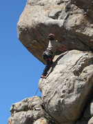 Rock Climbing Photo: Christian ponders the roof.