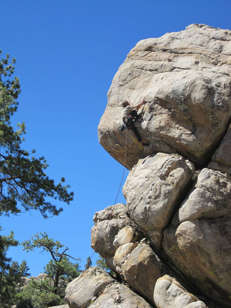 Rock Climbing Photo: Roof moves - Christian style.