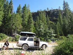 Rock Climbing Photo: Camping on a ridge road.