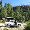 Camping on a ridge road.