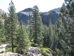 Rock Climbing Photo: Bowman Lake valley panorama No.1
