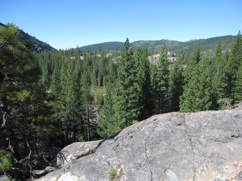 Bowman Lake valley panorama No.3