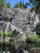 Rock Climbing Photo: Unknown route above the water....I guess you rappe...