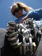 Rock Climbing Photo: sorting gear at the Needles