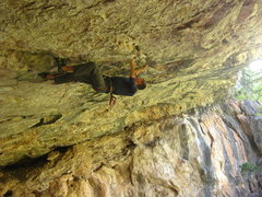Rock Climbing Photo: Chris Hirsch in the crux