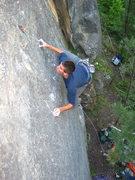 Rock Climbing Photo: Chris Hirsch on the second ascent of Naz