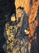 "Rock Climbing Photo: Colin Lee on the second ascent of ""Solar Ecli..."