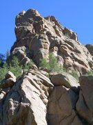 Rock Climbing Photo: Pine Nuts is on the left.  Conarette is on the rig...