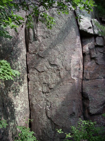 Rock Climbing Photo: Dihedral crack on the left.