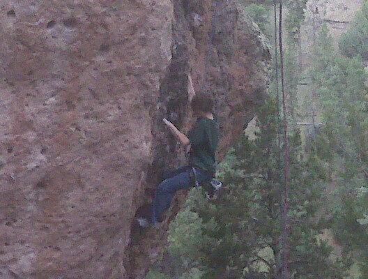 Rock Climbing Photo: My son Kaya's first time rock climbing outside, an...