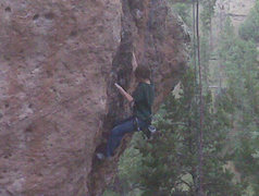 Rock Climbing Photo: My son Kaya's first time rock climbing outside, an...