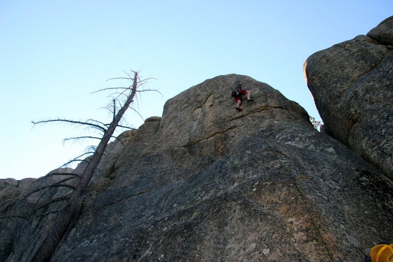 Rock Climbing Photo: The upper section of Cinder 5.11a