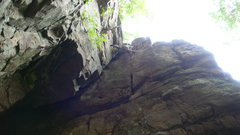 Rock Climbing Photo: Ian, having stepped out onto the face shared by Ba...