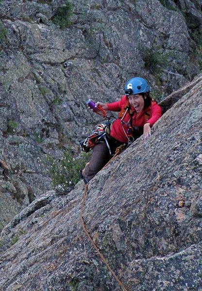 Rock Climbing Photo: gotta love a big bro!  Spring Creek, CO