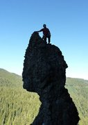 Rock Climbing Photo: Bill Standing on top of The Witch after the FA of ...